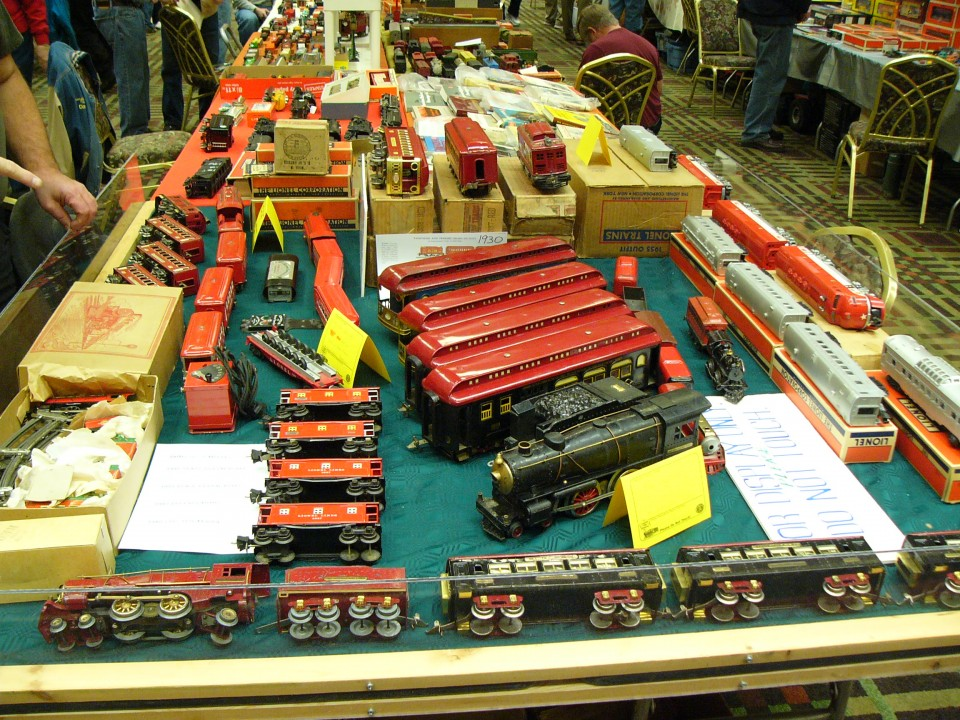 A wide assortment of toy trains awaits you at TCA meets